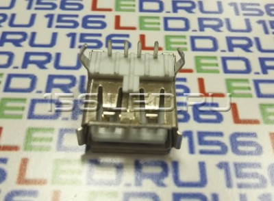 Разъем USB 004 одинарный длинный два крепления