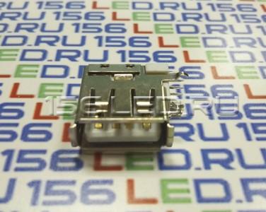 Разъем USB 008 одинарный вертикальный длинный три крепления