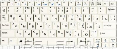 Клавиатура Acer Aspire One (белая) 9j.N9482.201