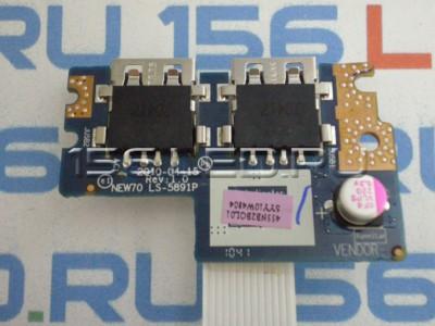 Плата USB NEW70 LS-5891P LS-5951P Acer Aspire 5741 5742 5551 5552 5252 Packard Bell PEW96
