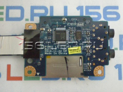 Плата Lenovo G570 Card Reader Board + Audio Jack LS-6751P