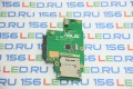 Плата Asus K50 Card Reader Board + разъем HDD SATA 60-NVKCR1000-D03