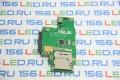 Плата Asus K50 Card Reader Board + разъем HDD SATA 60-NVKCR1000-D03